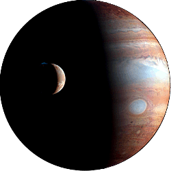 Jupiter - The largest planet with the most moons.