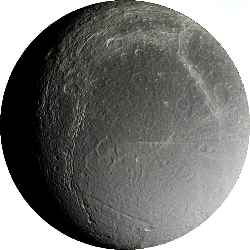 Dione - A moon of Saturn.