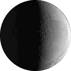 Enceladus - A moon of Saturn.