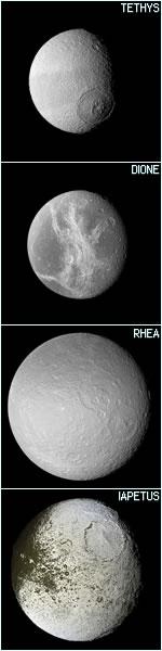 Saturn - Cassini's Sidera Lodoicean Moons