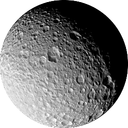 Mimas - A moon of Saturn.