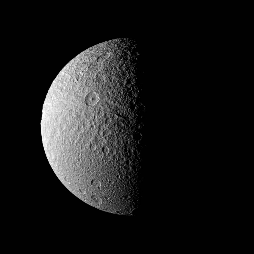 tethys moon of saturn surface pics about space