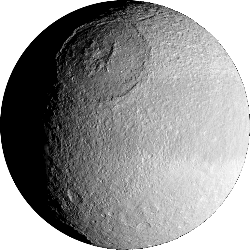 Tethys - A moon of Saturn.